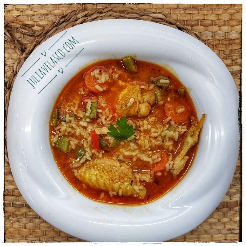 calorias arroz con pollo plato