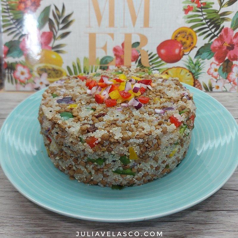 Ensalada de lentejas con verdura y quinoa