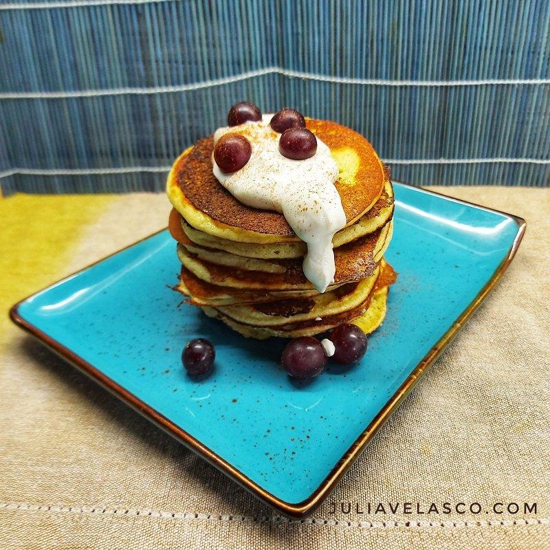 Pancakes de almendra y mandarina lowcarb