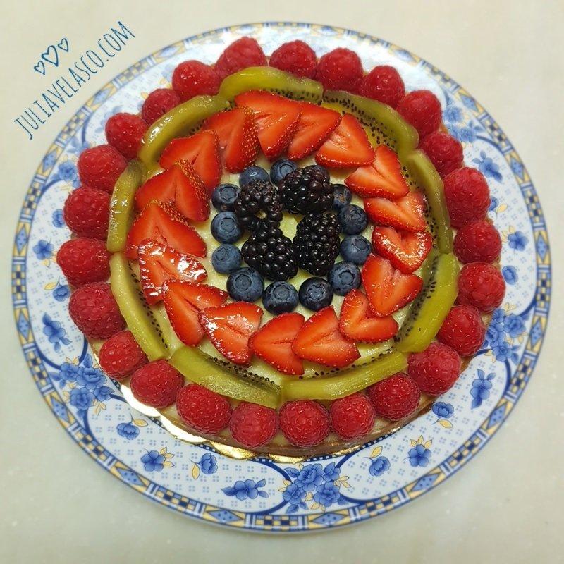 Tarta de frutas sin gluten