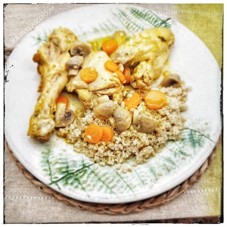 Pollo con quinoa y verduras