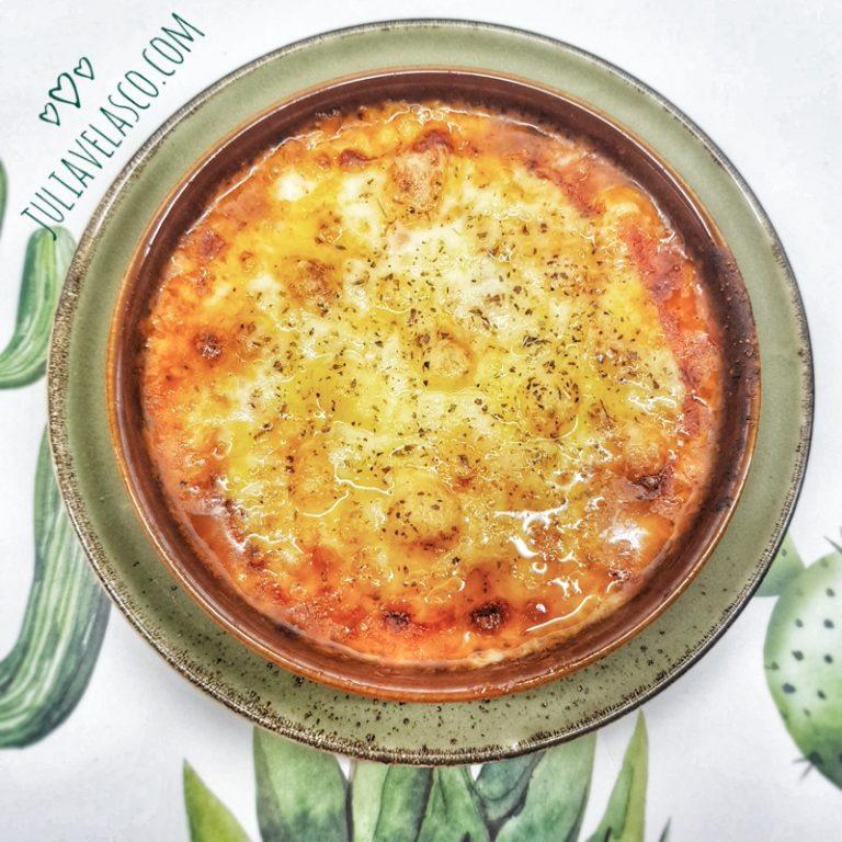 Cazuela horneada de verduras y Provolone