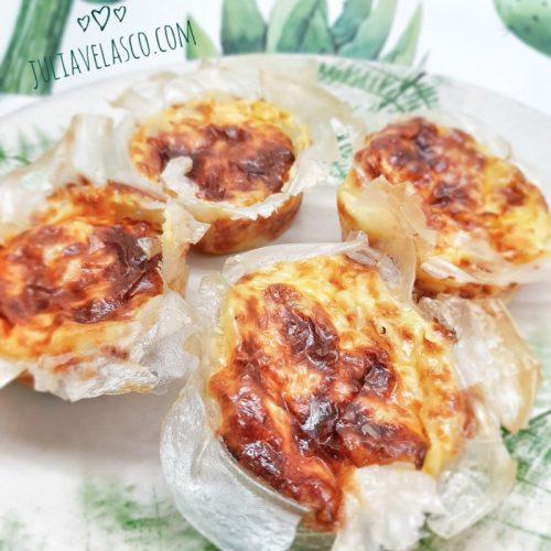 Tartaletas de queso y verduras