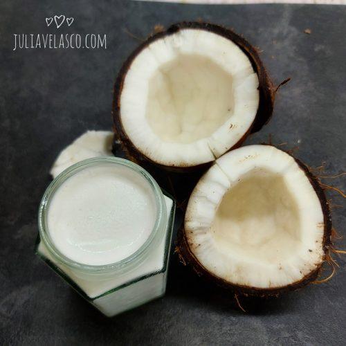 Yogur de coco keto